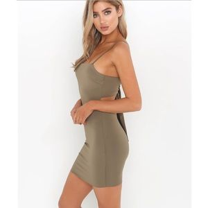 5115f17f95c ... Romper NWT Khaki Green Tigermist Mimi Mini Dress Bodycon Xenia Boutique  Tiffany Blue White ...